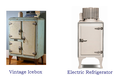 Early icebox and fridge