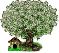 illustration of money growing on a tree